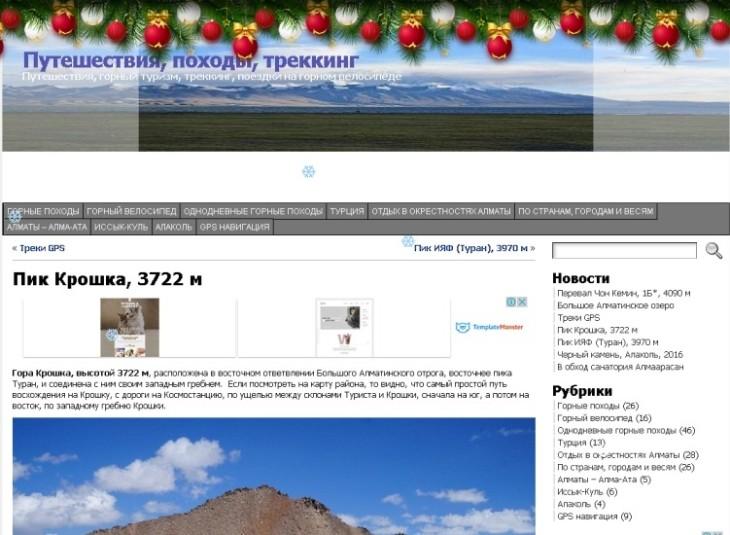 Новогодняя гирлянда в шапку сайта WordPress